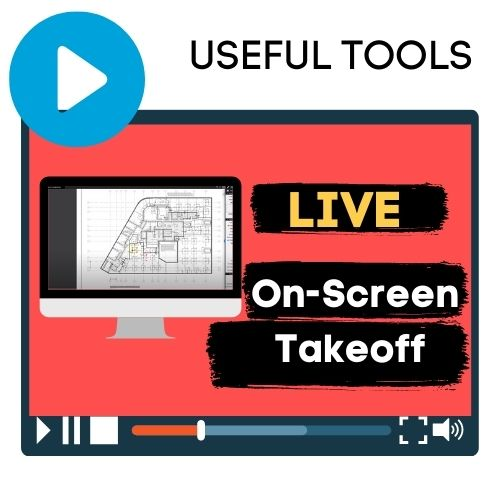 on screen takeoff course